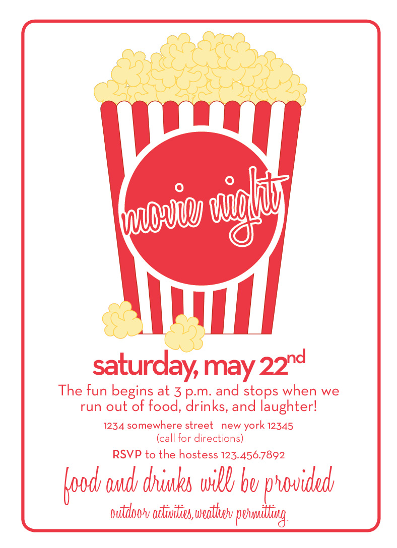 custom movie night invitation fineprints